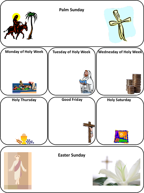 photo relating to Holy Week Activities Printable called Icon Holy 7 days Coloring Webpages Coloring - 12 months of Fresh H2o