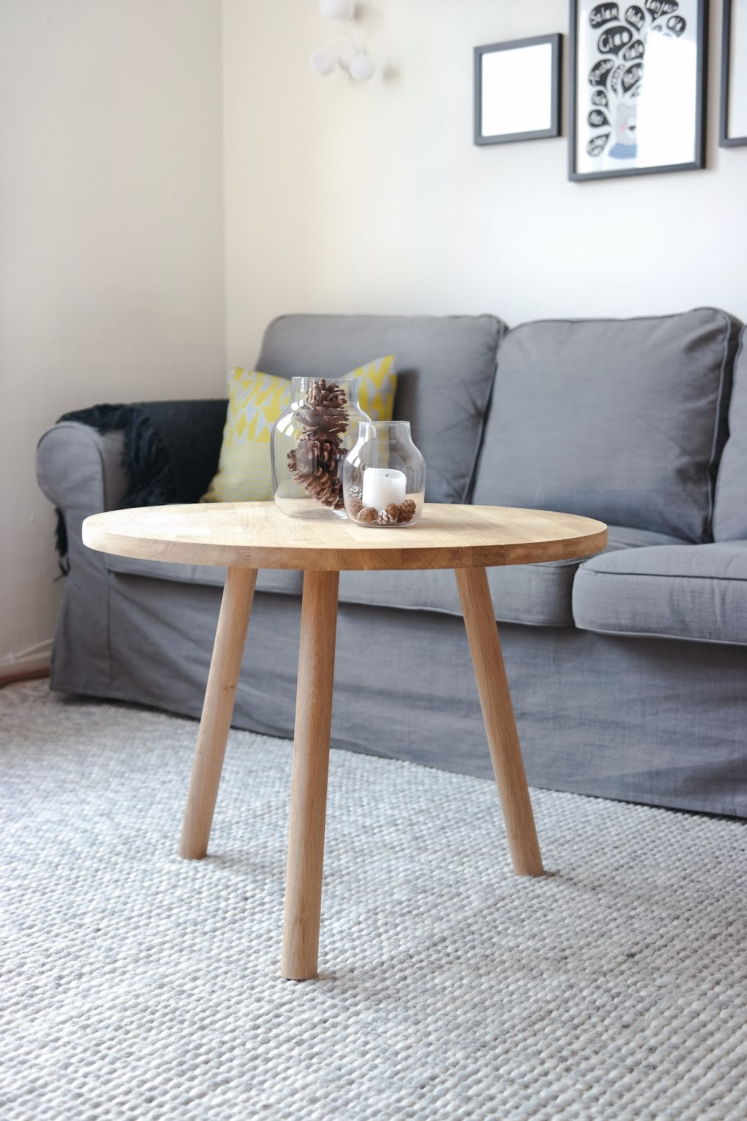 Table Basse Sostrene Grene With Designs Diy Rundt Sofabord I 10 Steg