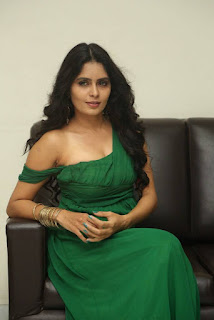 Madhumitha Krishna In Emerald Green Gown Sexy Stills