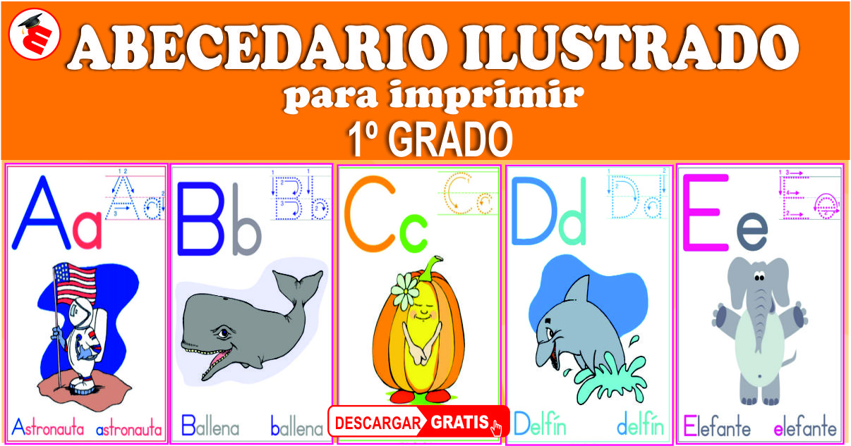 Material Educativo Abecedario Ilustrado Para Primer Grado Primaria