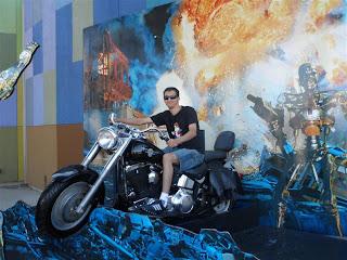 """Réplica da moto utilizada no filme """"O exterminador do fututo"""""""