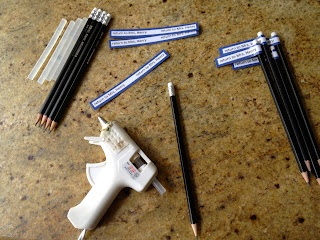 diy tags for pencils
