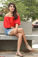 Rhea Chakraborty in Red Crop Top and Denim Shorts Spicy Pics ~  Exclusive 030.JPG