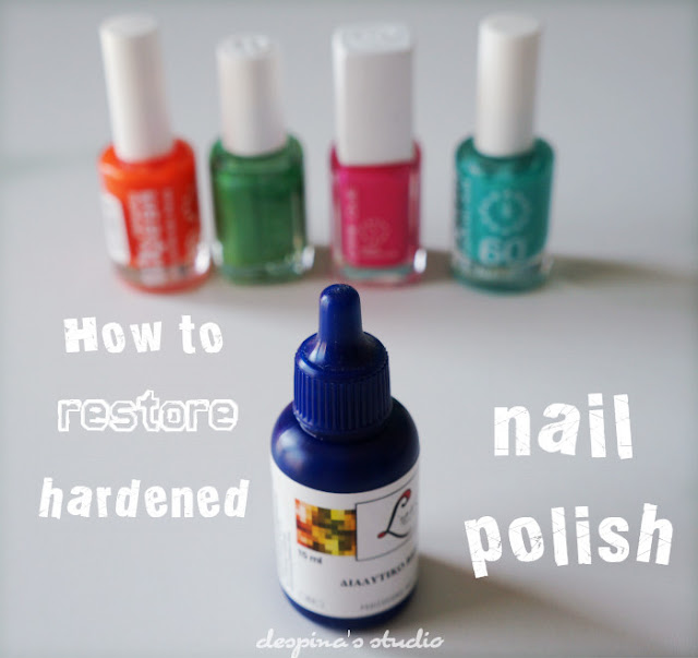 how to restore hardened nail polish
