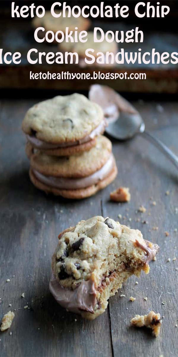 keto Chocolate Chip Cookie Dough Ice Cream Sandwiches #keto #Chocolate #Chip #Cookie #Dough #Ice #Cream #Sandwiches#ketoChocolateChipCookieDoughIceCreamSandwiches