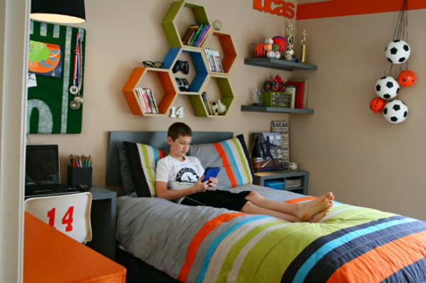 boys bedroom decorating ideas sports - Sports Bedroom Decorating Ideas