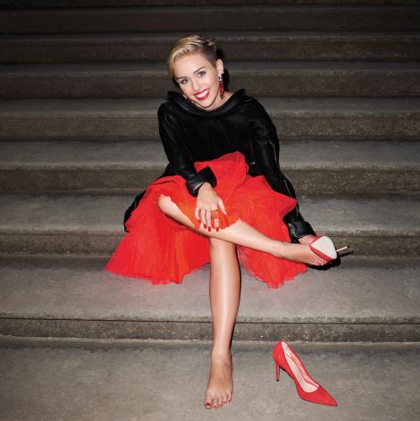 Miley Cyrus in Haute Couture for Harper's Bazaar