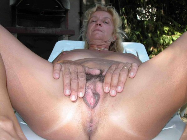 Mature spread nude women