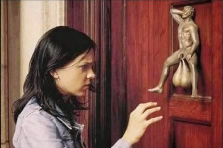 Funny evangelism deterrent door knocker picture