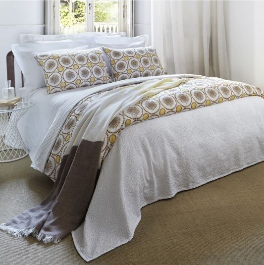 bedding Natural Flax Yellow Guest Bedroom Inspiration Board 15