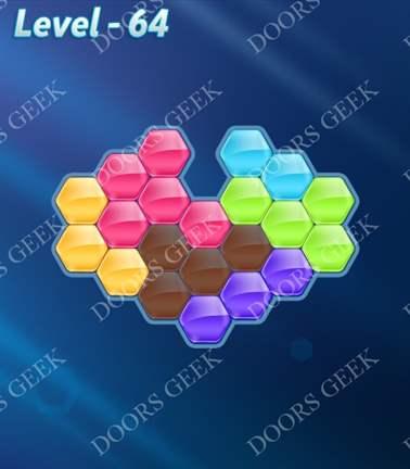Block! Hexa Puzzle [Rainbow A] Level 64 Solution, Cheats, Walkthrough for android, iphone, ipad, ipod