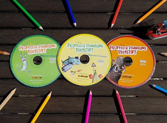 """Heute ein Buch! In der Welt der Phantasie unterwegs mit """"Professor Plumbums Bleistift"""". Die Hörbücher sind im audiolino Verlag erschienen."""