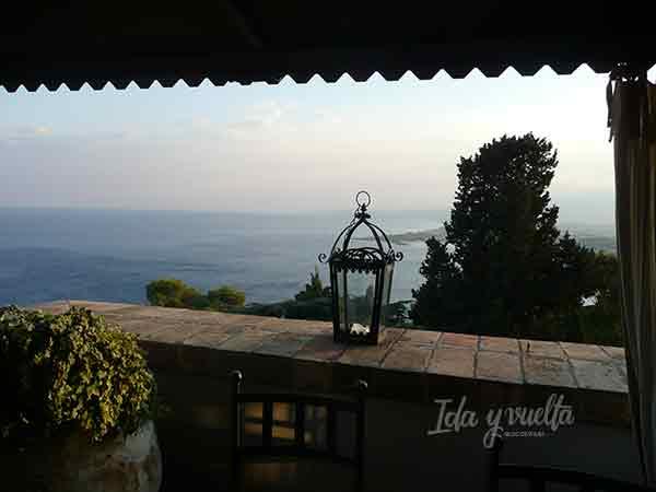 Vista desde la terraza del Villa Carlotta