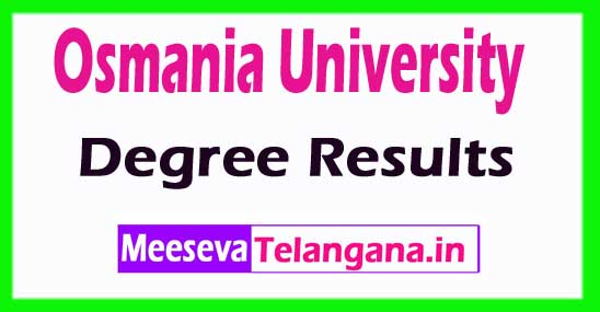 OU Osmania University Degree Results 2018