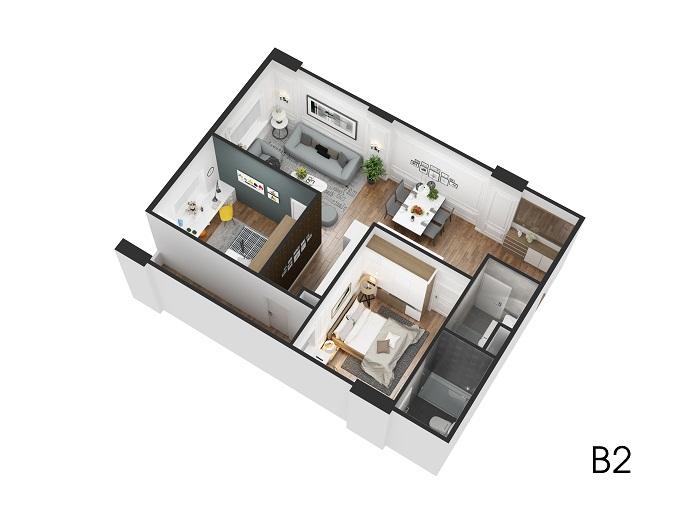 Thiết kế căn hộ B2 Eco City