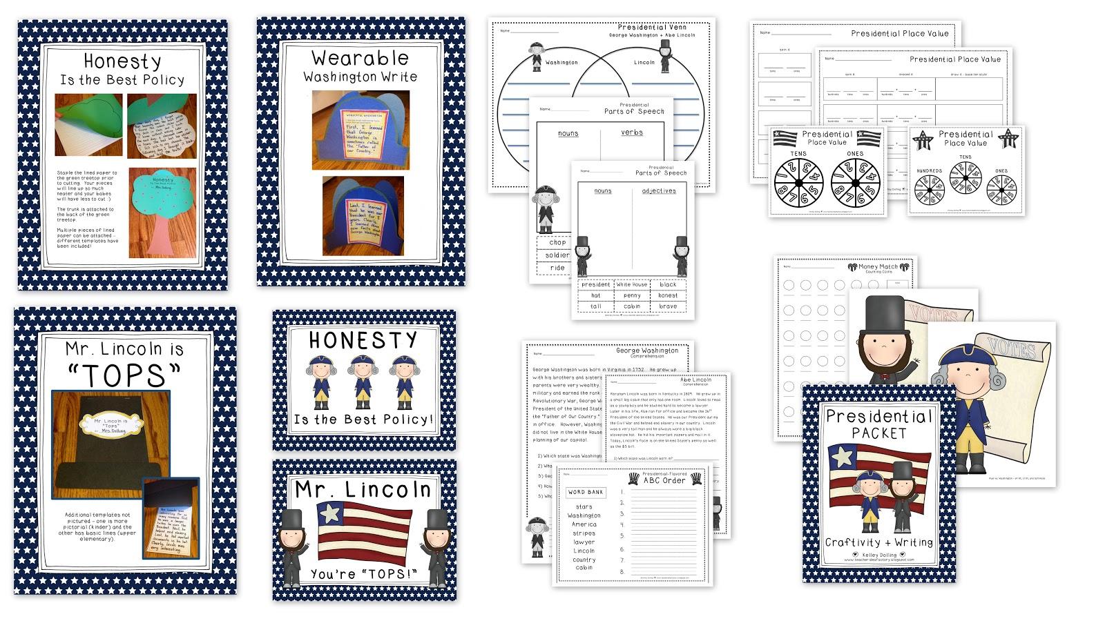Teacher Idea Factory A Very Presidential Packet Winner