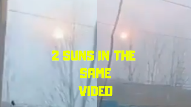 Two Suns but in the same video one on the left and one on the right.