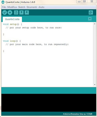 Sketch vuoto - Fonte Arduino IDE 1.6.8