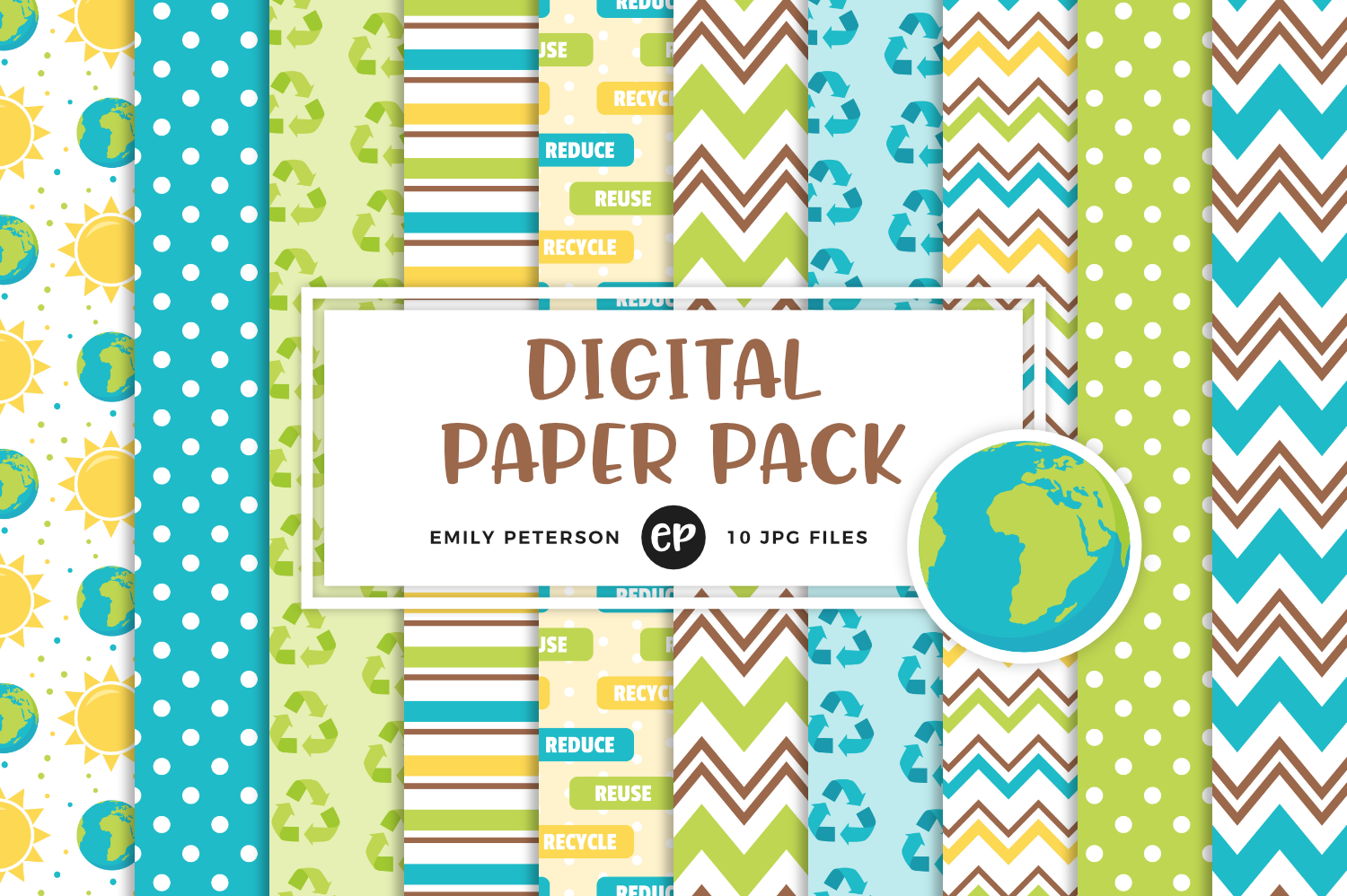 Earth Day Digital Papers, Emily Peterson