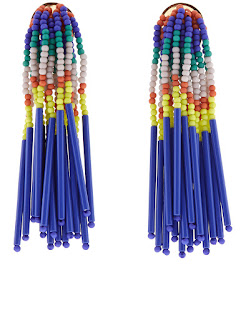 Make a splash in these statement earrings - Island Hue Beaded Fringe Earrings - Lele Sadoughi - Jewellery Summer Holiday