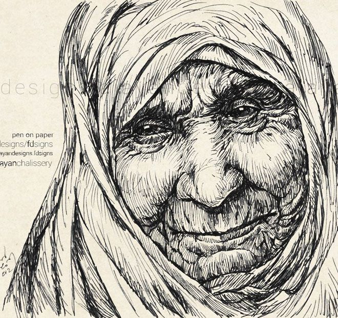 Pencil Drawing of Mother Teresa