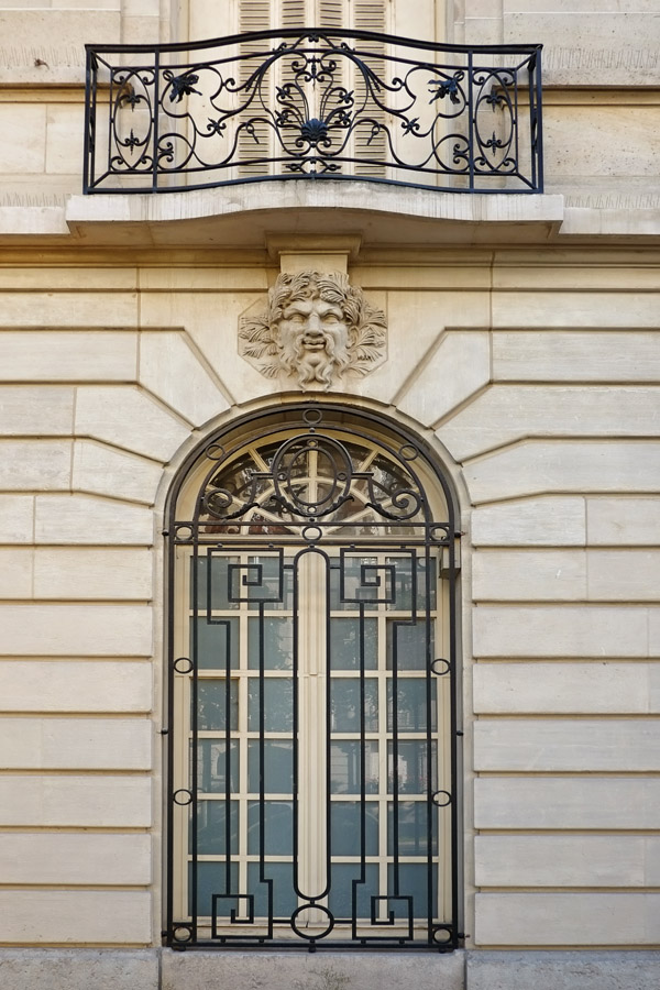 Window and iron work details on Avenue Charles Floquet, Paris, France. Paris photos by Kent Johnson for Street Fashion Sydney.