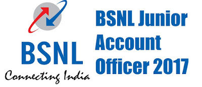 BSNL Junior Account Officer (JAO) Online Form 2017 - 2018