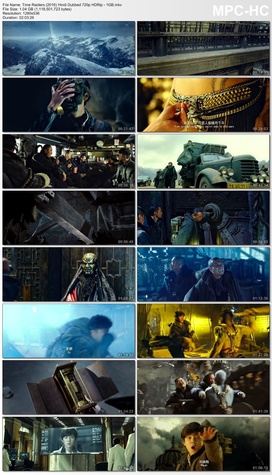 Time Raiders (2016) Hindi Dubbed 720p HDRip – 1GB Desirehub