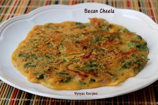 Besan Cheela - Veg Omelette