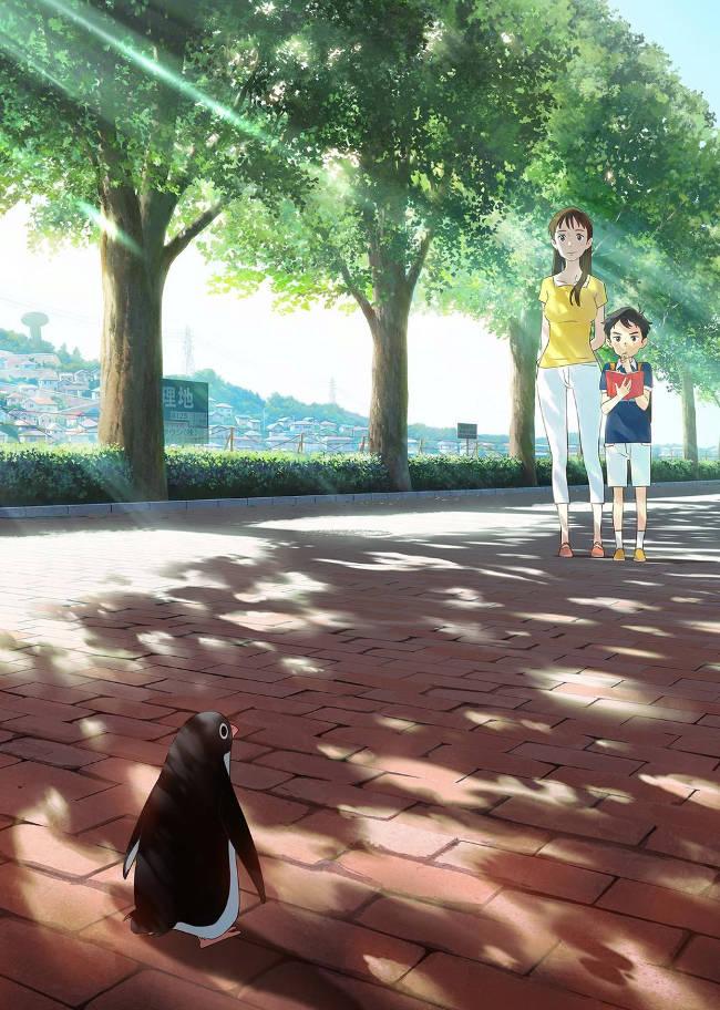 Plakat filmu anime Penguin Highway (jap. Pengin Haiwei)