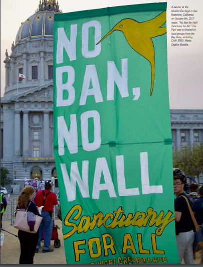 """No Ban No Wall. Sanctuary for All."""