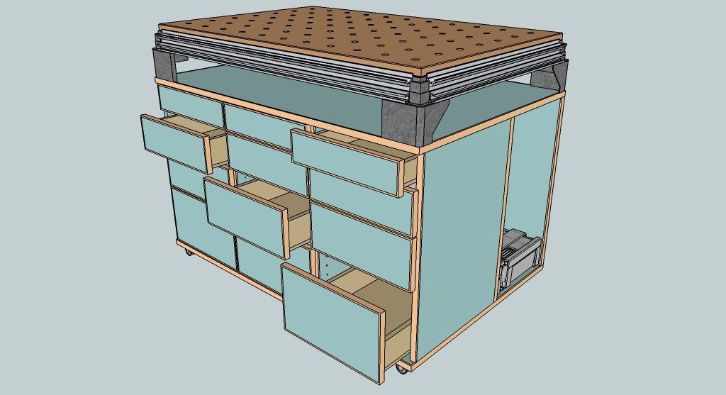 schrank fr werkstatt trendy werkstatt fr wandmontage metall qic series quantum storage systems. Black Bedroom Furniture Sets. Home Design Ideas