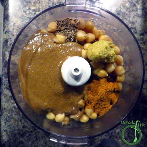 Morsels of Life - Creamy Hummus Step 2 - Combine all materials in food processor. Process, adding liquid from chickpeas or water, until desired consistency reached.