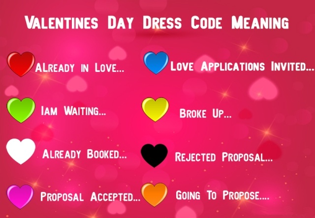 Valentine's Day Dress Code Colours