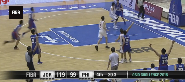 Jordan def. Gilas Pilipinas, 119-105 (REPLAY VIDEO) 2016 FIBA Asia Challenge