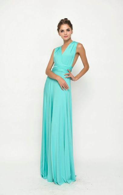 bridesmiad dress full length blue