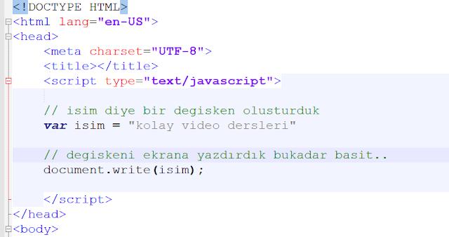 javascript'de opretaroler