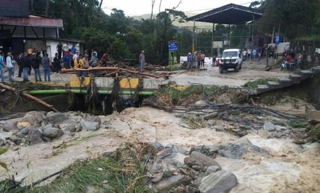 PC registró 45 personas y 10 viviendas afectadas tras inundaciones en la Colonia Tovar