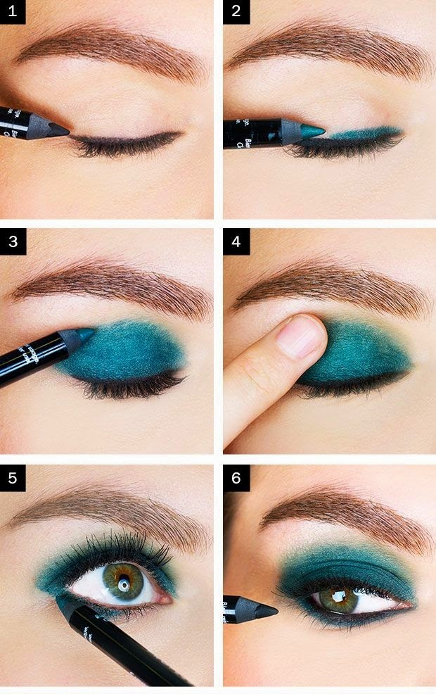 Casual eye makeup