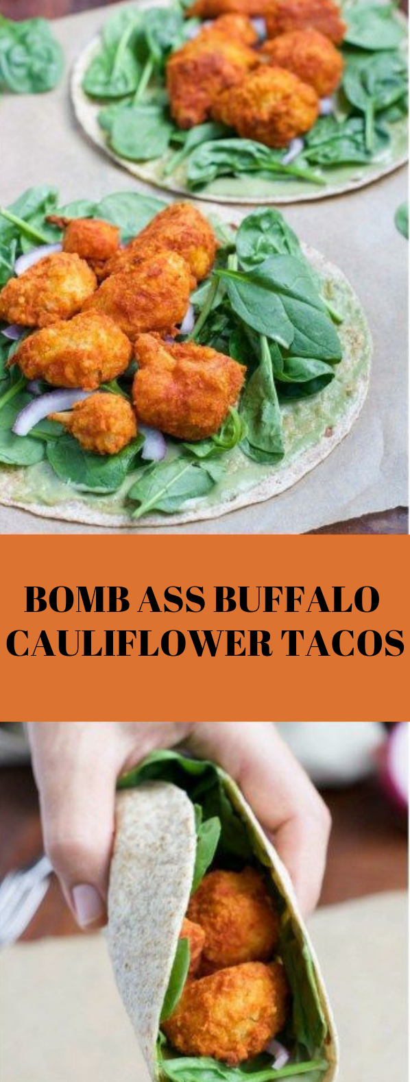 BOMB ASS BUFFALO CAULIFLOWER TACOS #cauliflower #tacos