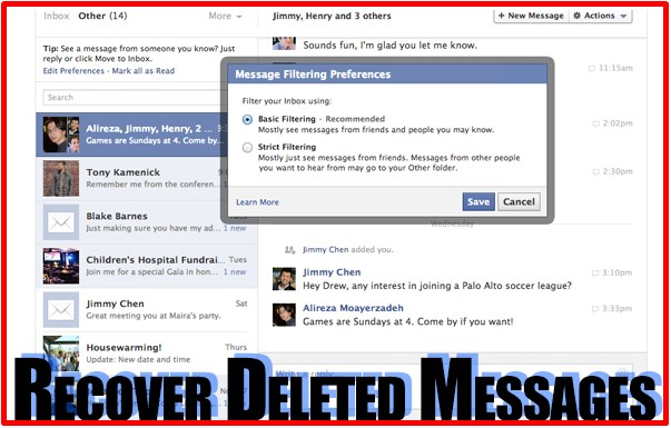 How To Undelete Facebook Messages