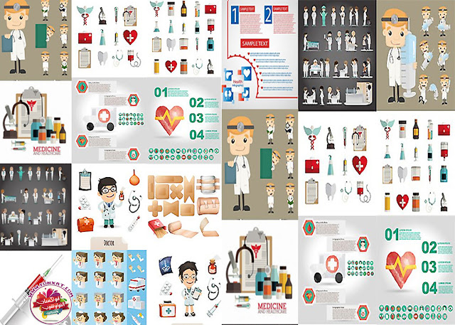 Download Images Vector Medical infographic charts