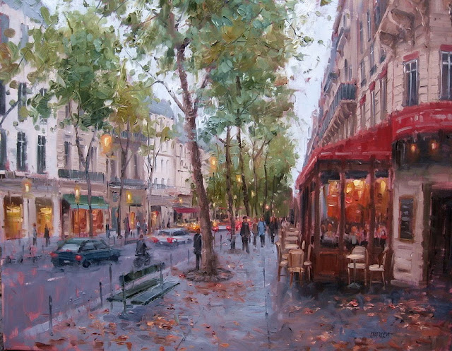 Eugene Paprocki 1971 ~ pittore americano   La città impressionista