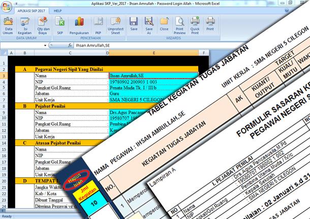 Aplikasi SKP (Sasaran Kerja PNS) Terbaru 2017 Format Microsoft Excel