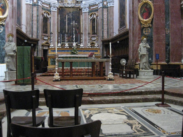 Innenraum der Kathedrale St. Paul in Mdina, Malta