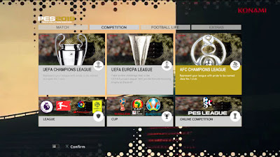 PES 2013 Graphic Menu PES 2019 Theme