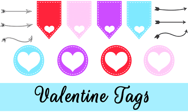 Free Valentine Tags and Arrows