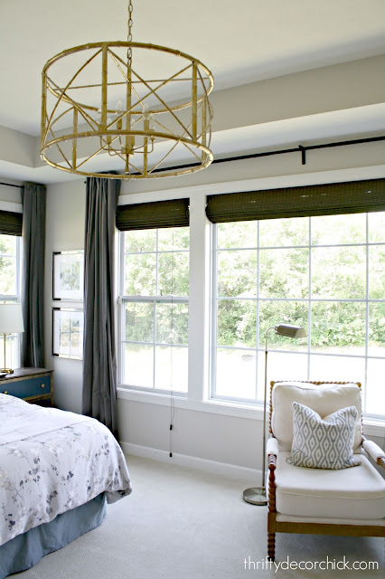 Large round light fixture for tall ceilings