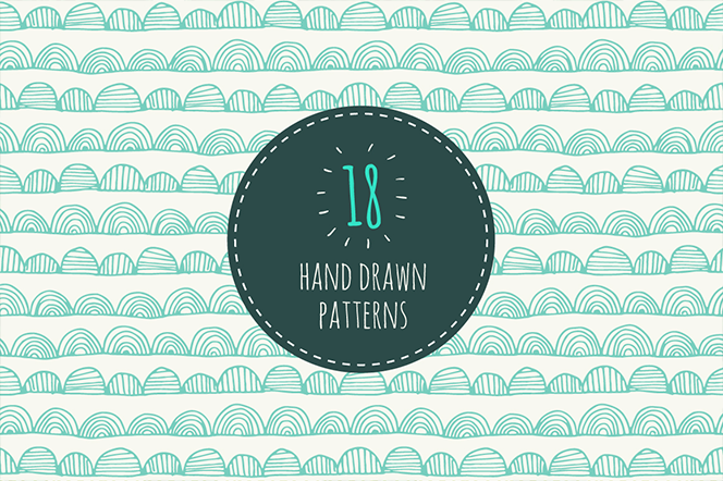 Seamless hand drawn patterns - magnia