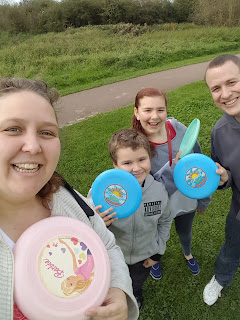 The Family ready for a game of Frisbee Golf
